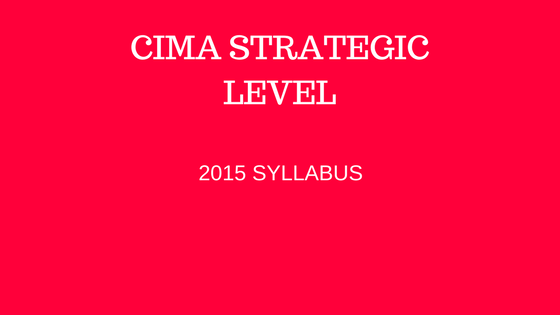 free CIMA strategic level resources