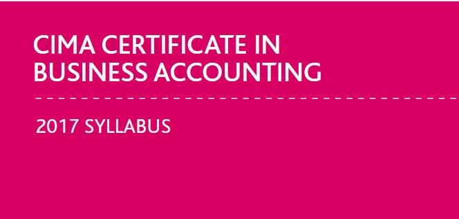 Free CIMA Certificate Level Resource