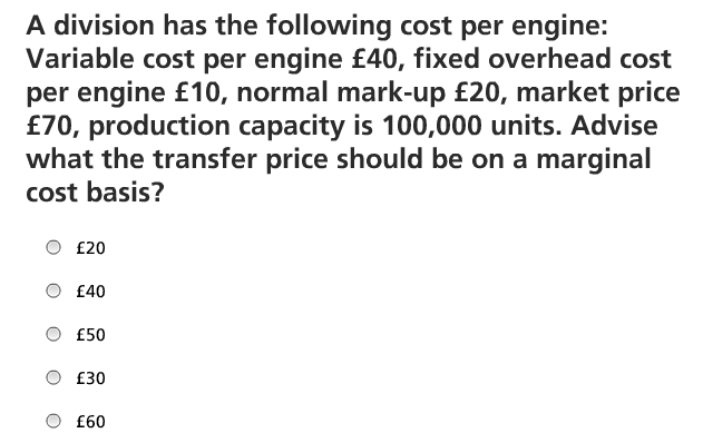transfer pricing revision question 1