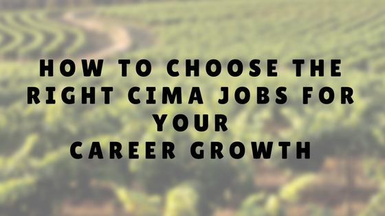 CIMA JOBS CAREER GROWTH